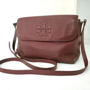 TORY BURCH Thea Messenger Burgundy Crossbody Shoulder Bag